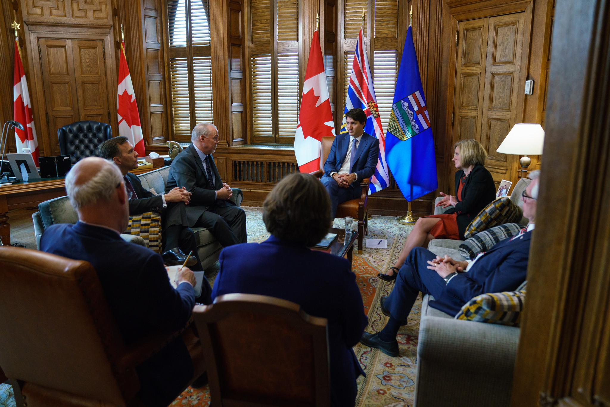 Horgan Notley Trudeau Meeting (Photo: Prime Minister's Office)